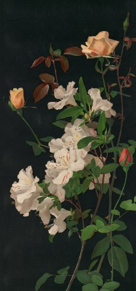 Azaleas and Roses by George Cochran Lambdin Wallpaper