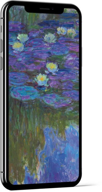 Nymphéas en fleur by Monet Wallpaper