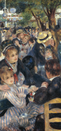 Bal du moulin de la Galette by Renoir Wallpaper