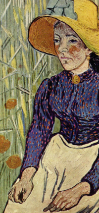 Peasant Woman Against a Background of Wheat by Van Gogh Wallpaper