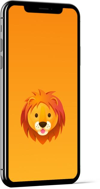 Lion Emoji Wallpaper