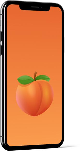 Peach Emoji Wallpaper