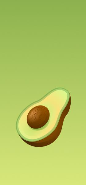 Avocado Emoji Wallpaper