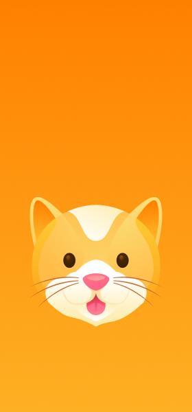 Cat Face Emoji Wallpaper