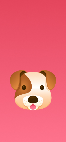 Dog Face Emoji Wallpaper