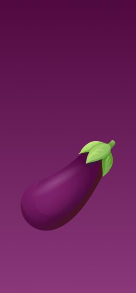Eggplant Emoji Wallpaper