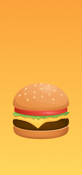 Hamburger Emoji Wallpaper