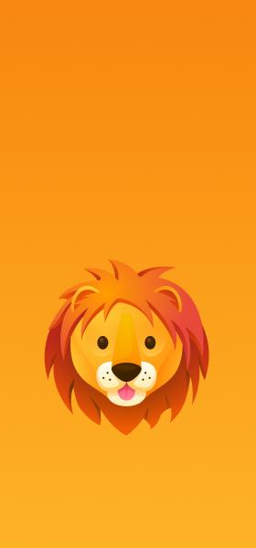 Lion Emoji Wallpaper