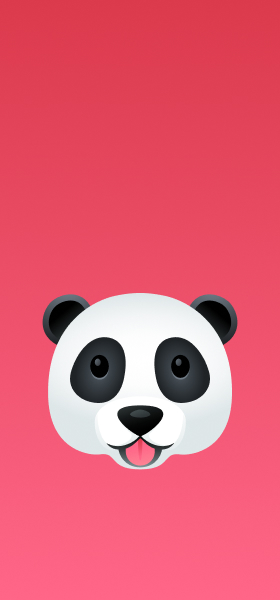 Panda Emoji Wallpaper