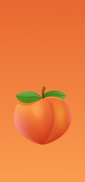 Peach Emoji Wallpaper