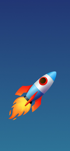 Rocket Emoji Wallpaper
