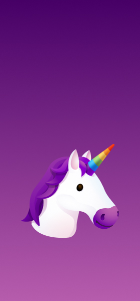Unicorn Emoji Wallpaper
