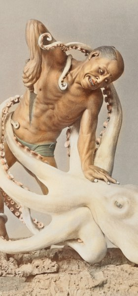 Man Vs Octopus by Ogawa Kazumasa Wallpaper
