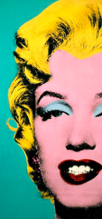 Turquoise Marilyn by Warhol Wallpaper