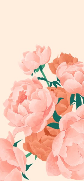 Peonies by Adara Sánchez Wallpaper