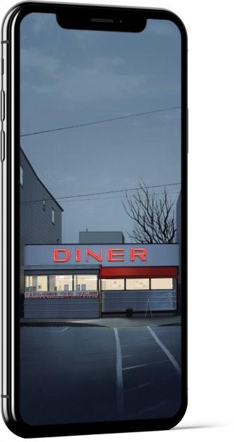 Diner by Alex Monge Wallpaper