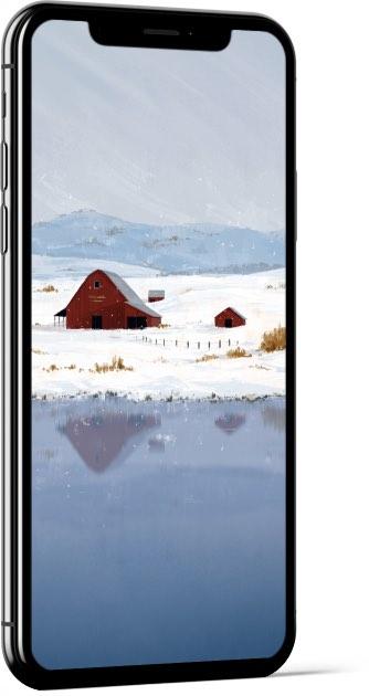 Winter Barn by Alex Monge Wallpaper