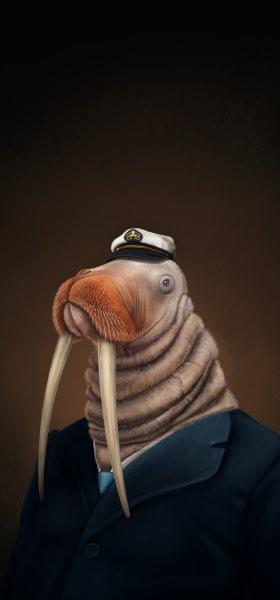 Elegant Beasts I by Alex Monge Wallpaper
