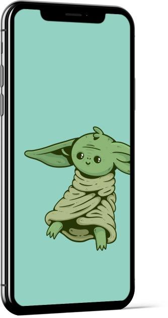 Baby Yoda Fan Art by Deivid Sáenz Wallpaper