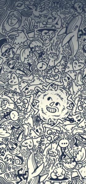 Doodle Black&White Wallpaper