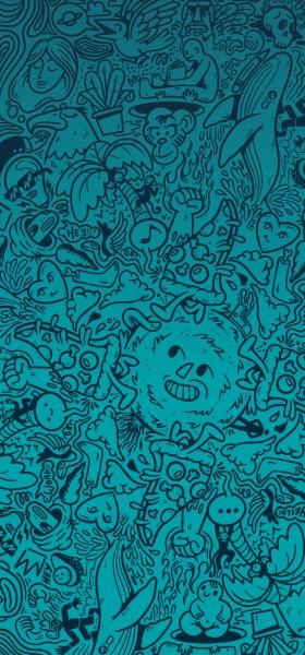 Doodle Green by Deivid Sáenz Wallpaper