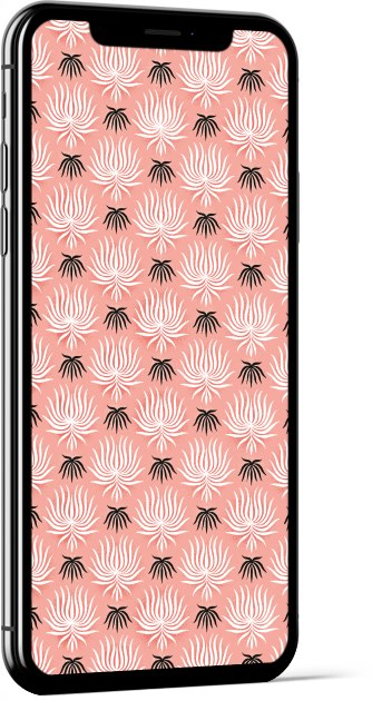 Pink Pattern - Laura Pacheco Wallpaper