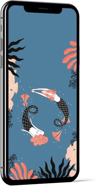 Mermaids by Laura Pacheco Wallpaper