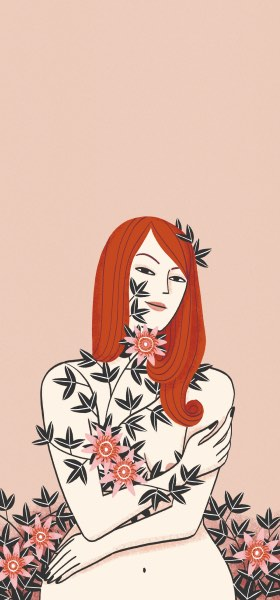 Passionflower Lady by Laura Pacheco Wallpaper