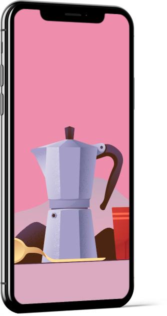 Coffee by Miguel Camacho Wallpaper
