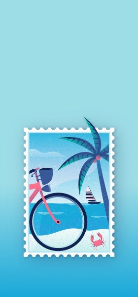 Beach Stamp by Miguel Camacho Wallpaper