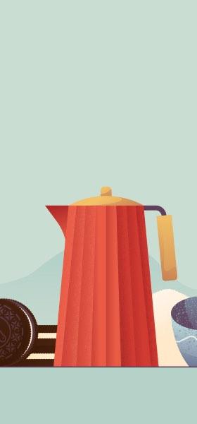 Tea and Oreo by Miguel Camacho Wallpaper