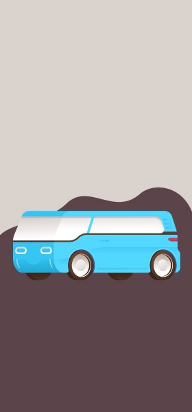 Blue Van by Miguel Camacho Wallpaper