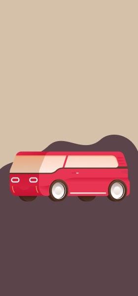 Red Van by Miguel Camacho Wallpaper