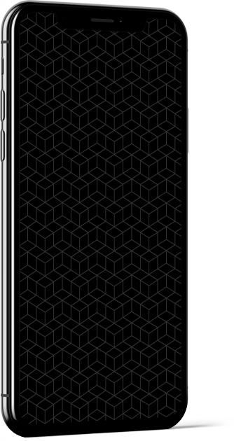 Geometric Cubes in Black Wallpaper