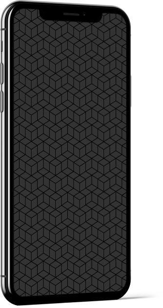 Geometric Cubes in Grey Wallpaper