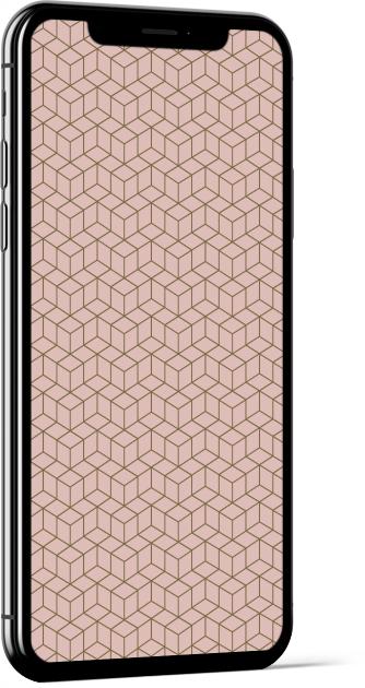 Geometric Cubes in Pink Wallpaper