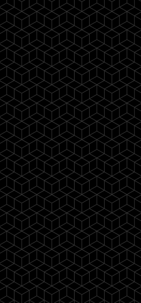 Geometric Cubes in Black Wallpaper