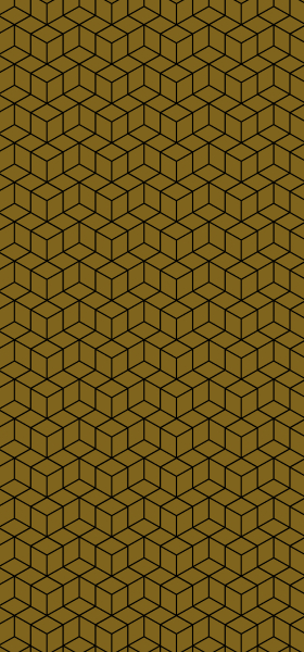 Geometric Cubes in Gold Wallpaper