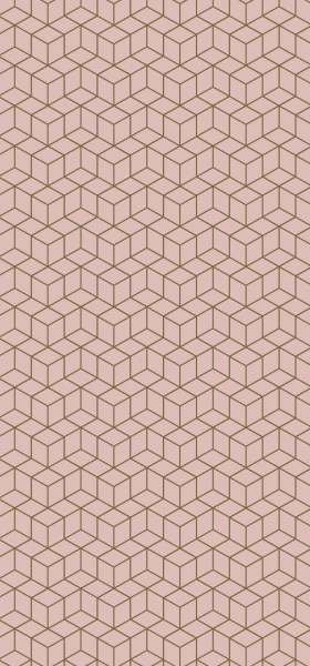 Geometric Cubes in Pink Wallpaper