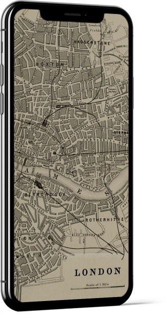 Vintage London Map Wallpaper