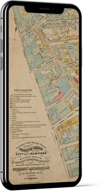 Vintage New York Map Wallpaper