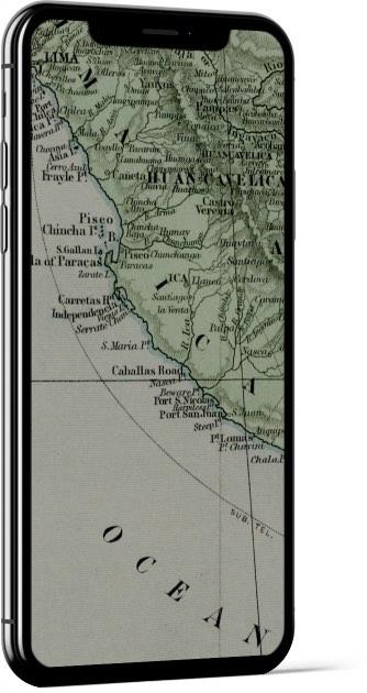 Vintage Peru Map Wallpaper