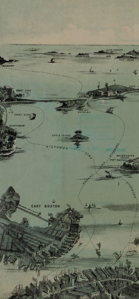 Vintage Boston Map Wallpaper