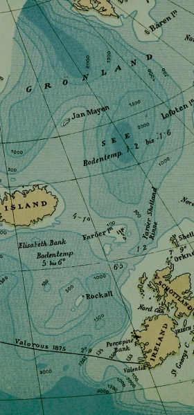 Vintage Iceland Map Wallpaper