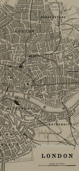 Vintage London Map Wallpaper
