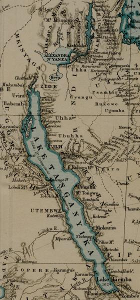 Vintage Tanganyika Map Wallpaper
