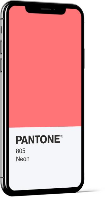 PANTONE 805 Neon Card Wallpaper