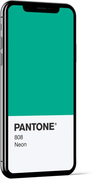 PANTONE 808 Neon Card Wallpaper