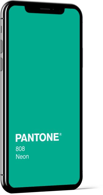 PANTONE 808 Neon Plain Wallpaper