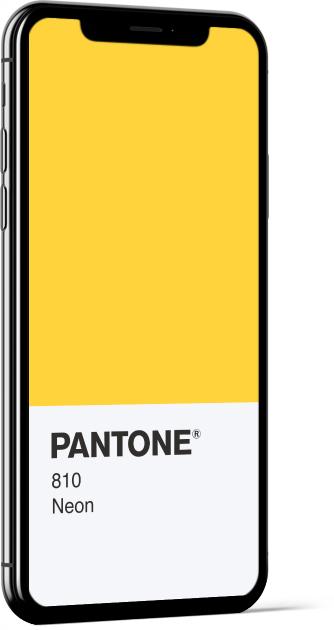 PANTONE 810 Neon Card Wallpaper